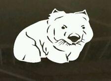 Cute Wombat Australian Animals Vinyl cut Sticker car boat aussie made & design