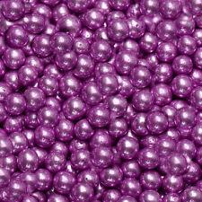 Metallic Purple 4mm Edible Sugar Pearl Balls/Dragees - 50g