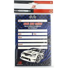 V8 SUPERCARS RACING CAR PARTY INVITATIONS INVITES (PACK OF 8)
