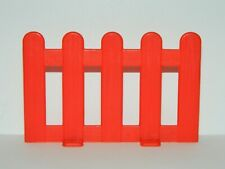 VTG Vintage Plastic Red Fence Piece Play Set Accessory