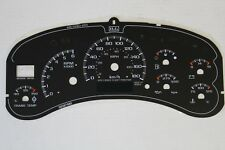 KM/H 99-01 02 HD2500 GAS TRUCK KILOMETER METER CLUSTER GAUGE FACE INLAY ONLY