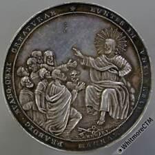 More details for papal (1800) award medal 40mm alumnorum collegii urbani. by l.gennari. silver