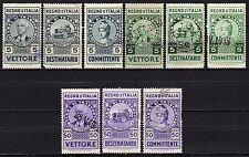 #789 - Regno - Lotto di 9 marche da bollo Trasporto, 1936 - Usati