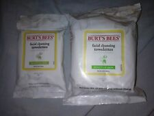 30 Pack & 10 Pack Burt Bees Facial Cleansing Towelettes Sensitive Skin