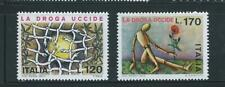 ITALY STAMPS 1977 MNH SET FIGHT AGAINST DRUG ABUSE SC 1254-55