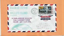 5 NIKE APACHE ROKETS TMA & SODIUM VAPOR LAUNCHED DEC 15,1970 WALLOPS