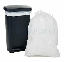 PlasticPlace 13 Gallon Extra Tall Drawstring, Jr Pack - MPN: W13DSWHJR