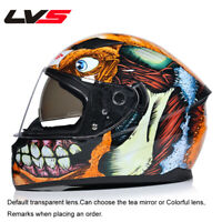 LVS Motorcycle Helmet Personality Cool Off-road Full Face Helmet Unisex