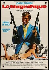 Le MAGNIFIQUE German A1 movie poster JEAN-PAUL BELMONDO JACQUELINE BISSET
