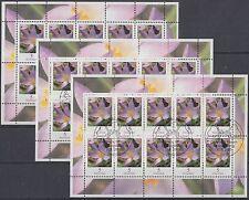 BRD/Bund Zehnerbogen Blumen 2480 postfrisch /ESST Bonn und Berlin (P-1210)