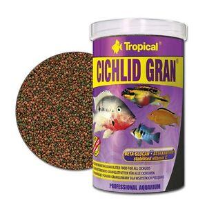Tropical Cichlid Gran Granulate 1000 ML Barschfutter Cichlid Feed Malawi