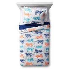 Pillowfort Full/Queen Big Cat Block Party Comforter Set - Multicolor