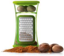 NOCE moscata GRATTA con contenitore sfreghi aufbewähren Nut RALLADOR Nuez moscada Grinder