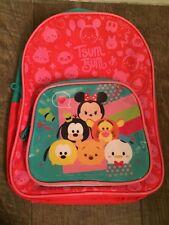 🔴 Backpack Tsum Tsum Minnie Pluto Goofy Pooh Red Blue Mini Size Child B3