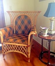 MacKenzie Childs Vivaldi Ajiro Rattan Bamboo Wicker Chair - Delivery Available