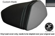 BLACK AND GREY VINYL CUSTOM FOR KAWASAKI Z750 07-12  Z1000 07-09 REAR SEAT COVER