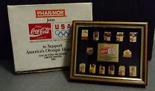 COCA COLA QUADRO IN LEGNO PINS DA COLLEZIONE OLIMPIADI USA 1992 PIN OLIMPIC GAME