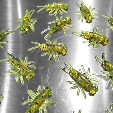 NEW 50/pack CHARTREUSE TOAD Buggeroo Fishing Soft Plastic Bait Bug Cricket Nymph