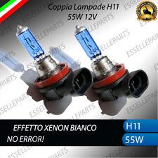 COPPIA LAMPADE H11 EFFETTO XENON AUDI A4 B6 FENDINEBBIA BIANCO 55W 12V