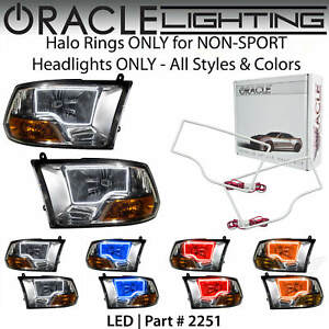ORACLE Halo Rings Kit for NON-SPORT Headlights for 09-12 Dodge RAM *All Colors