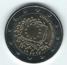 Pièce 2 euros commémo Chypre 2015 (30 ans Drapeau Européen)