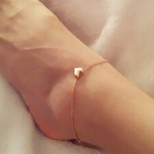 Gold Coloured Love Heart Chain Anklet.