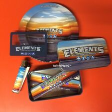 ELEMENTS KING SIZE BUNDLE - PAPERS, ASTRAY, BOX, MAGNIFIER CARD, CLIPPER LIGHTER