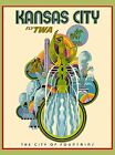 Kansas City of Fountains Missouri United States Travel Advertisement Art Poster