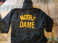 VINTAGE 60'S-70'S NOTRE DAME SZ XL/XXL SIDELINE JACKET LINED COAT Coaches Navy