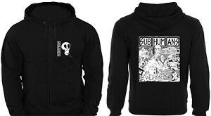 ZIP HOODIE SUBHUMANS EVOLUTION unisex punk rock sweatshirt jumper Citizen Fish