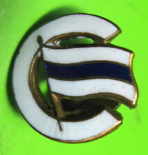 SOVIET UNION - SPORTS SOCIETY BUILDER (СТРОИТЕЛЬ) VINTAGE ENAMEL BADGE ON SCREW