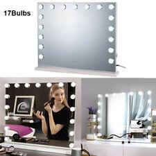 Hollywood Makeup Vanity Mirror Lighted Mirror Dimmer Frameless 17 Led Bulbs