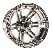 Set of 4 Golf Cart Gtw Specter 10 inch Chrome Wheel With 3:4 Offset