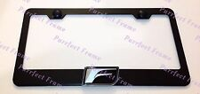 Lexus 3D F SPORT Emblem Black Stainless Steel License Plate Frame W/ Caps