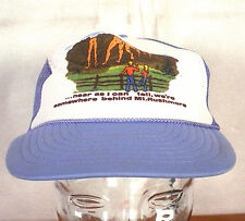 vtg 80s crude Novelty Somewhere behid Mt Rushmore Snapback Trucker Hat Cap indie