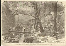 IMAGE 1881 PRINT NOUVELLE-CALEDONIE MINE CUIVRE A BALADE