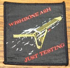 WISHBONE ASH 1980 ORIGINAL VINTAGE EMBROIDERED WOVEN COLTH SEWING SEW ON PATCH