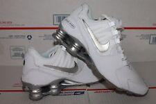 Nike SHOX Avenue White Metallic Silver Run NEW BG Kids Shoes 7Y 8.5 310480-100