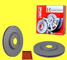 Zimmermann 2 x SPORT Bremsscheiben VW PHAETON (3D_) 3.2 3.6 4.2 6.0 3.0TDI 5.0