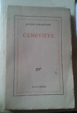 LEMARCHAND Jacques. Geneviève. Nrf Gallimard. 1944.