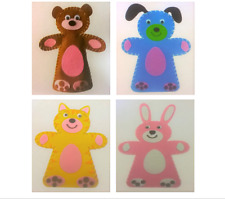 Glove Hand Puppet Make Your Own Craft Sewing Game Children Novelty Felt Animal
