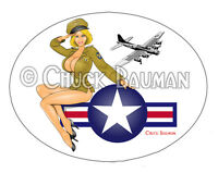 Sexy Bomber Girl BLONDE BOMBSHELL bomber nose-art girl pin-up sticker decal