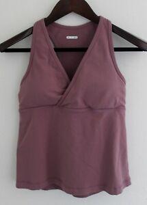 Lululemon Wet Dry Warm Crossover Purple Tank Top Size 2 **No Size Dot