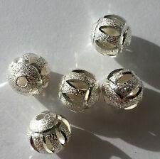 bigiotteria 10 Perle Metalliche PERLA 10 mm Colore Argento zwischenperle sabbia