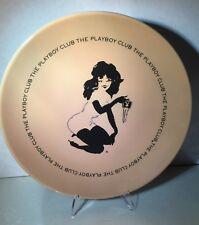 "MINTY VINTAGE PLAYBOY KEY CLUB FEMLIN 10"" DINNER PLATE & STAND - RIP HUGH HEFNER"
