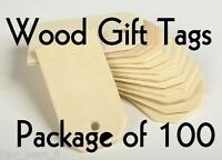 "WOOD GIFT TAG ~ 2 1/4"" ~ Cutout Craft Shape ~ Unfinished { Lot of 100 } ~ by PLD"