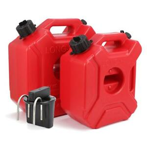 Red Plastic Portable Can Gas Fuel Tank Petrol ATV UTV 3L 5 L for Motorcycle Car