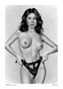 original drawing A3 126OJ art samovar female nude oil dry brush Signed 2021