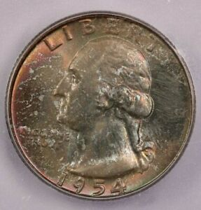 1954-D 1954 Washington Quarter ICG MS67+ WOW What a Beauty! Colorful Toning!