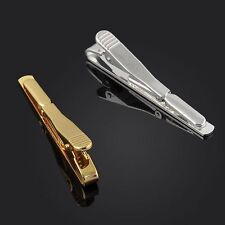 2x Mens Gold Stainless Steel Slim Tie Clip Bar Gold And Silver